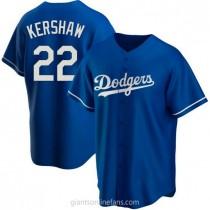 Mens Clayton Kershaw Los Angeles Dodgers #22 Replica Royal Alternate A592 Jersey