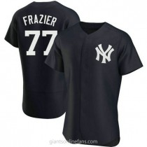 Mens Clint Frazier New York Yankees #77 Authentic Navy Alternate A592 Jersey