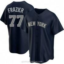 Mens Clint Frazier New York Yankees #77 Replica Navy Alternate A592 Jerseys