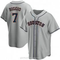 Mens Craig Biggio Houston Astros #7 Replica Gray Road A592 Jerseys