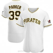 Mens Dave Parker Pittsburgh Pirates #39 Authentic White Home A592 Jersey