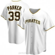 Mens Dave Parker Pittsburgh Pirates #39 Replica White Home A592 Jersey