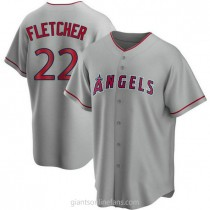 Mens David Fletcher Los Angeles Angels Of Anaheim #22 Replica Silver Road A592 Jerseys
