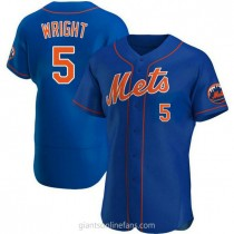 Mens David Wright New York Mets #5 Authentic Royal Alternate A592 Jerseys