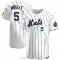 Mens David Wright New York Mets #5 Authentic White Home A592 Jersey