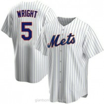 Mens David Wright New York Mets #5 Replica White Home A592 Jersey