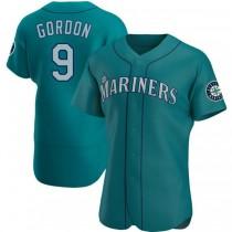 Mens Dee Gordon Seattle Mariners #9 Authentic Aqua Alternate A592 Jersey