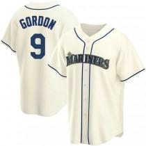 Mens Dee Gordon Seattle Mariners #9 Replica Cream Alternate A592 Jerseys