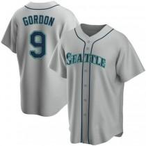 Mens Dee Gordon Seattle Mariners #9 Replica Gray Road A592 Jerseys