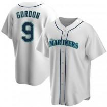 Mens Dee Gordon Seattle Mariners #9 Replica White Home A592 Jerseys