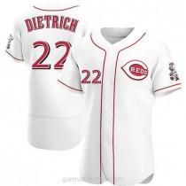 Mens Derek Dietrich Cincinnati Reds #22 Authentic White Home A592 Jerseys