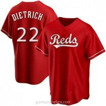 Mens Derek Dietrich Cincinnati Reds #22 Replica Red Alternate A592 Jerseys