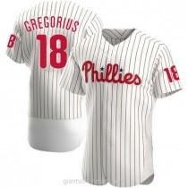 Mens Didi Gregorius Philadelphia Phillies Authentic White Home A592 Jersey
