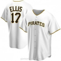 Mens Dock Ellis Pittsburgh Pirates #17 Replica White Home A592 Jersey