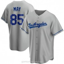 Mens Dustin May Los Angeles Dodgers #85 Replica Gray Road A592 Jersey