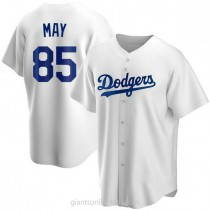 Mens Dustin May Los Angeles Dodgers Replica White Home A592 Jersey