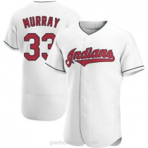 Mens Eddie Murray Cleveland Indians #33 Authentic White Home A592 Jerseys