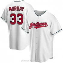 Mens Eddie Murray Cleveland Indians #33 Replica White Home A592 Jersey