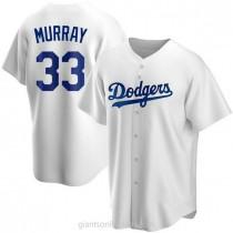 Mens Eddie Murray Los Angeles Dodgers #33 Replica White Home A592 Jerseys
