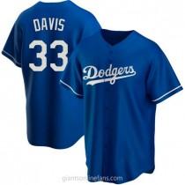 Mens Eric Davis Los Angeles Dodgers #33 Replica Royal Alternate A592 Jerseys
