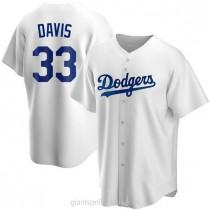 Mens Eric Davis Los Angeles Dodgers Replica White Home A592 Jersey