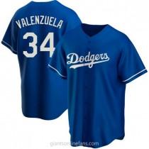 Mens Fernando Valenzuela Los Angeles Dodgers #34 Replica Royal Alternate A592 Jersey