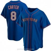Mens Gary Carter New York Mets #8 Replica Royal Alternate Road A592 Jersey