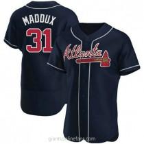 Mens Greg Maddux Atlanta Braves Authentic Navy Alternate A592 Jersey