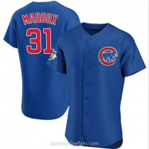 Mens Greg Maddux Chicago Cubs #31 Authentic Royal Alternate A592 Jersey