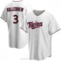 Mens Harmon Killebrew Minnesota Twins #3 Replica White Home A592 Jersey