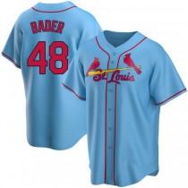 Mens Harrison Bader St Louis Cardinals #48 Light Blue Alternate A592 Jersey Replica