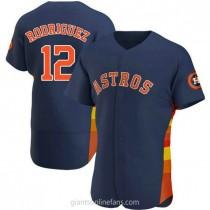 Mens Ivan Rodriguez Houston Astros #12 Authentic Navy Alternate A592 Jerseys