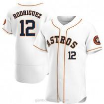 Mens Ivan Rodriguez Houston Astros #12 Authentic White Home A592 Jerseys