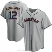 Mens Ivan Rodriguez Houston Astros #12 Replica Gray Road A592 Jerseys
