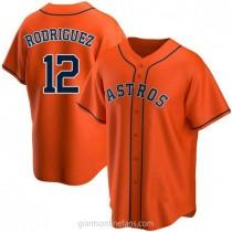 Mens Ivan Rodriguez Houston Astros #12 Replica Orange Alternate A592 Jersey