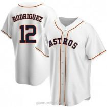 Mens Ivan Rodriguez Houston Astros #12 Replica White Home A592 Jerseys