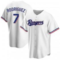Mens Ivan Rodriguez Texas Rangers #7 Replica White Home A592 Jerseys