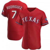 Mens Ivan Rodriguez Texas Rangers Authentic Red Alternate A592 Jersey