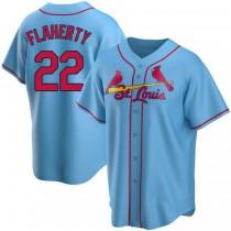 Mens Jack Flaherty St Louis Cardinals Light Blue Alternate A592 Jersey Replica