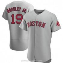 Mens Jackie Bradley Jr Boston Red Sox #19 Authentic Gray Road A592 Jerseys