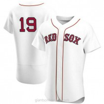 Mens Jackie Bradley Jr Boston Red Sox #19 Authentic White Home Team A592 Jersey