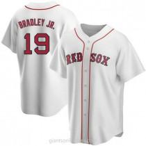Mens Jackie Bradley Jr Boston Red Sox #19 Replica White Home A592 Jersey