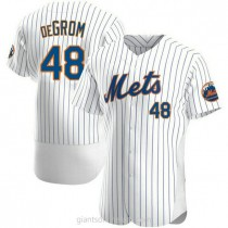 Mens Jacob Degrom New York Mets #48 Authentic White Home A592 Jersey