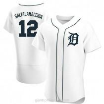 Mens Jarrod Saltalamacchia Detroit Tigers Authentic White Home A592 Jersey