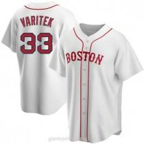 Mens Jason Varitek Boston Red Sox #33 Replica White Alternate A592 Jerseys