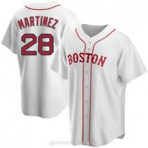 Mens Jd Martinez Boston Red Sox #28 Replica White Alternate A592 Jerseys