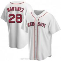 Mens Jd Martinez Boston Red Sox #28 Replica White Home A592 Jerseys