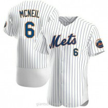 Mens Jeff Mcneil New York Mets #6 Authentic White Home A592 Jersey