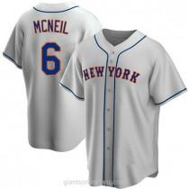 Mens Jeff Mcneil New York Mets #6 Replica Gray Road A592 Jerseys