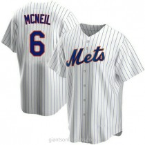 Mens Jeff Mcneil New York Mets #6 Replica White Home A592 Jersey